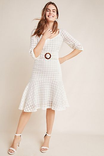f1e88fe4cc17 Belted Eyelet Dress