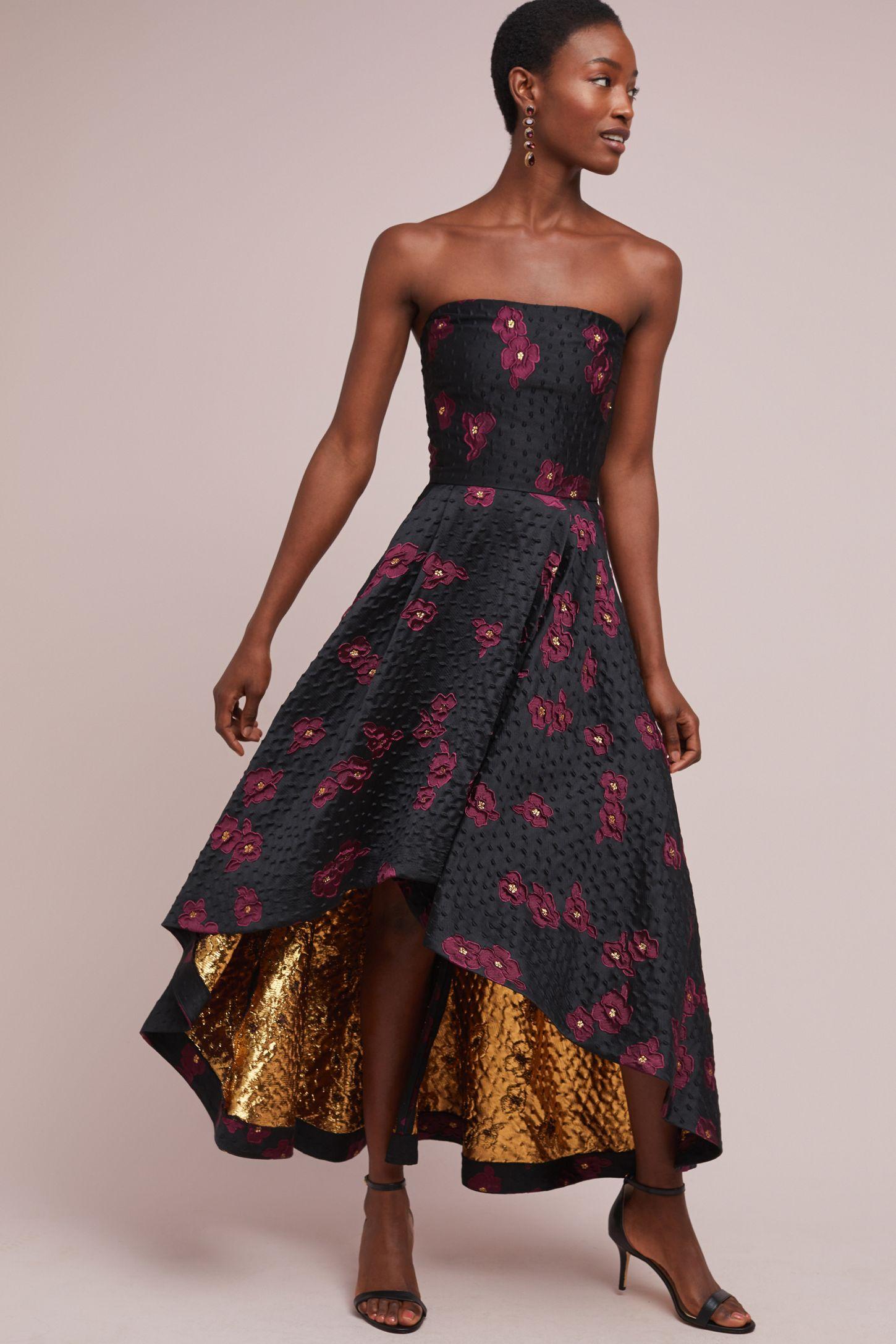 6a65fafe905 Shoshanna Paladino Metallic Ball Gown