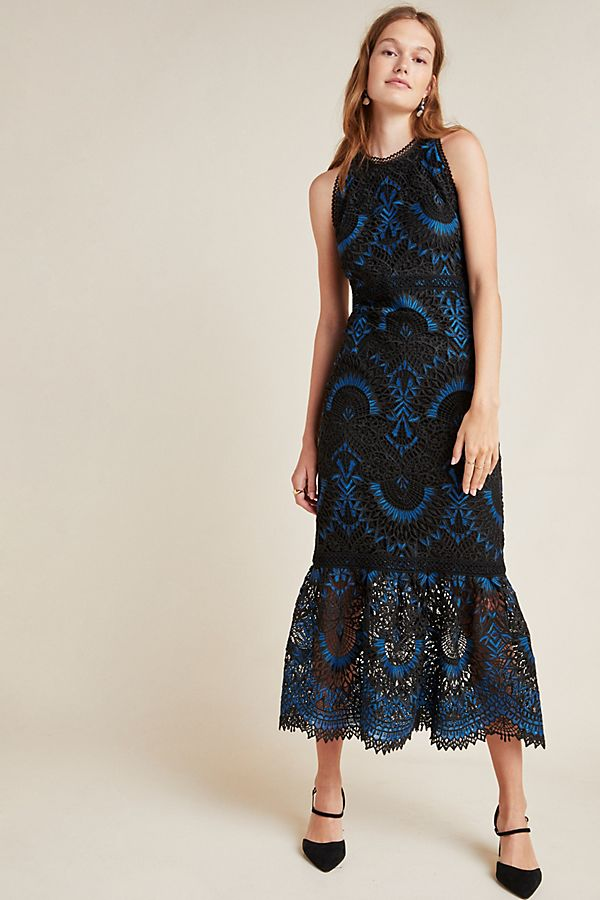 Slide View: 1: Shoshanna Colton Lace Maxi Dress