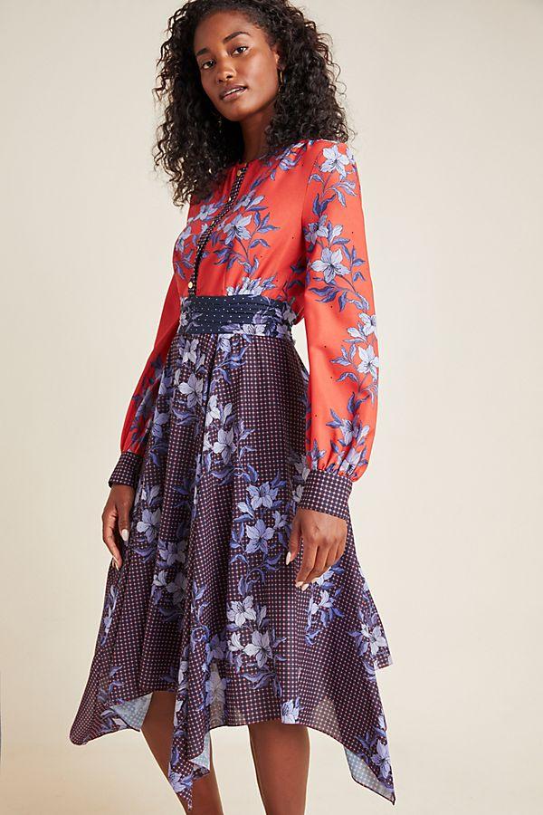 Slide View: 1: Shoshanna Ainsley Midi Dress