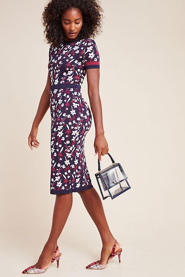 Slide View: 1: Shoshanna Evan Floral Midi Dress