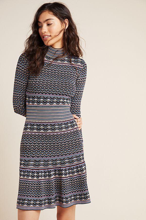 Slide View: 1: Shoshanna Etta Knit Mini Dress