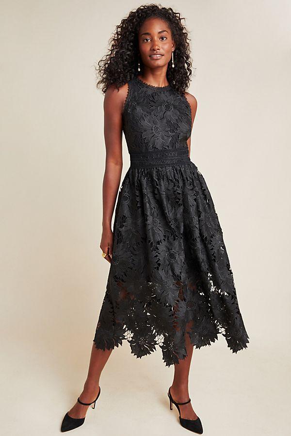 Slide View: 1: Shoshanna Chantal Daisy Lace Midi Dress