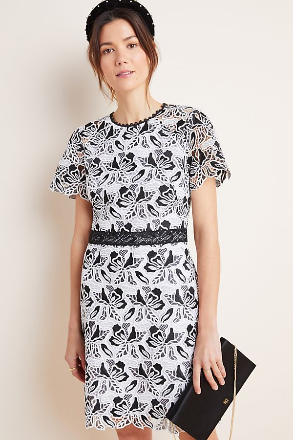Slide View: 1: Shoshanna Embroidered Lace Mini Dress