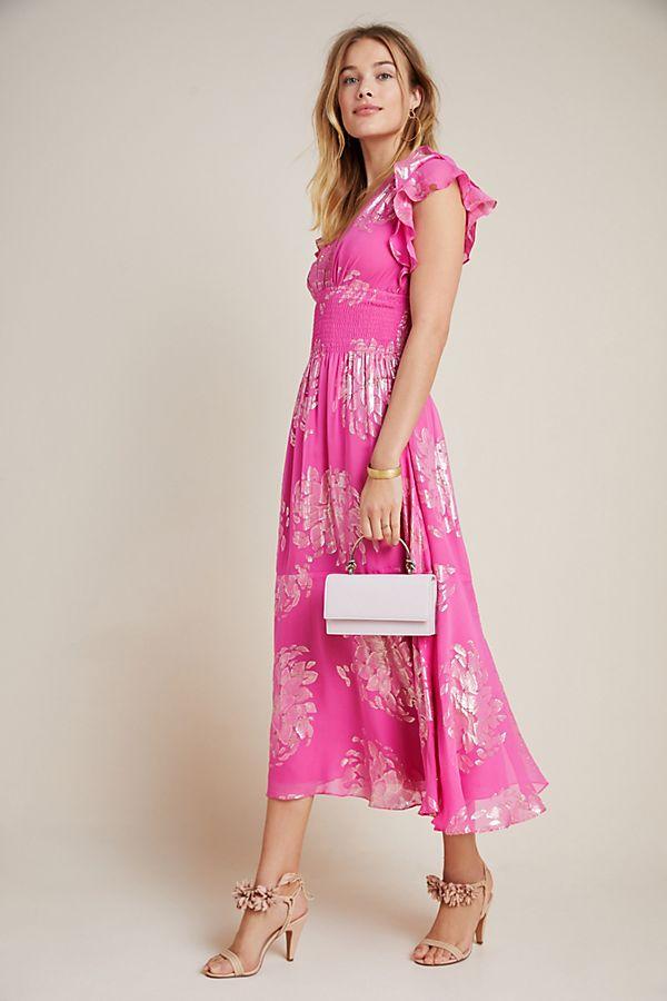 Slide View: 1: Shoshanna Zirara Shimmer Midi Dress