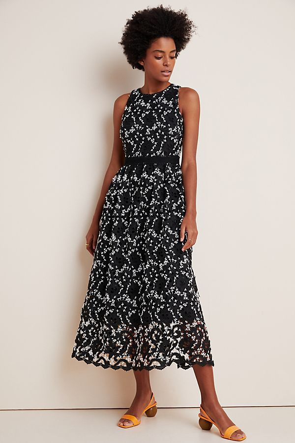 Slide View: 1: Shoshanna Lolla Embroidered Lace Maxi Dress