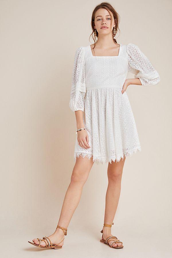 Slide View: 1: Shoshanna Vega Lace Mini Dress