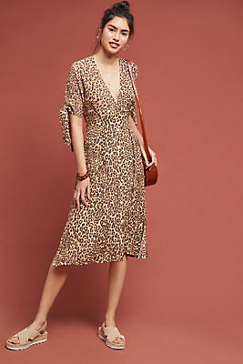 Slide View: 1: Faithfull Leopard Midi Dress