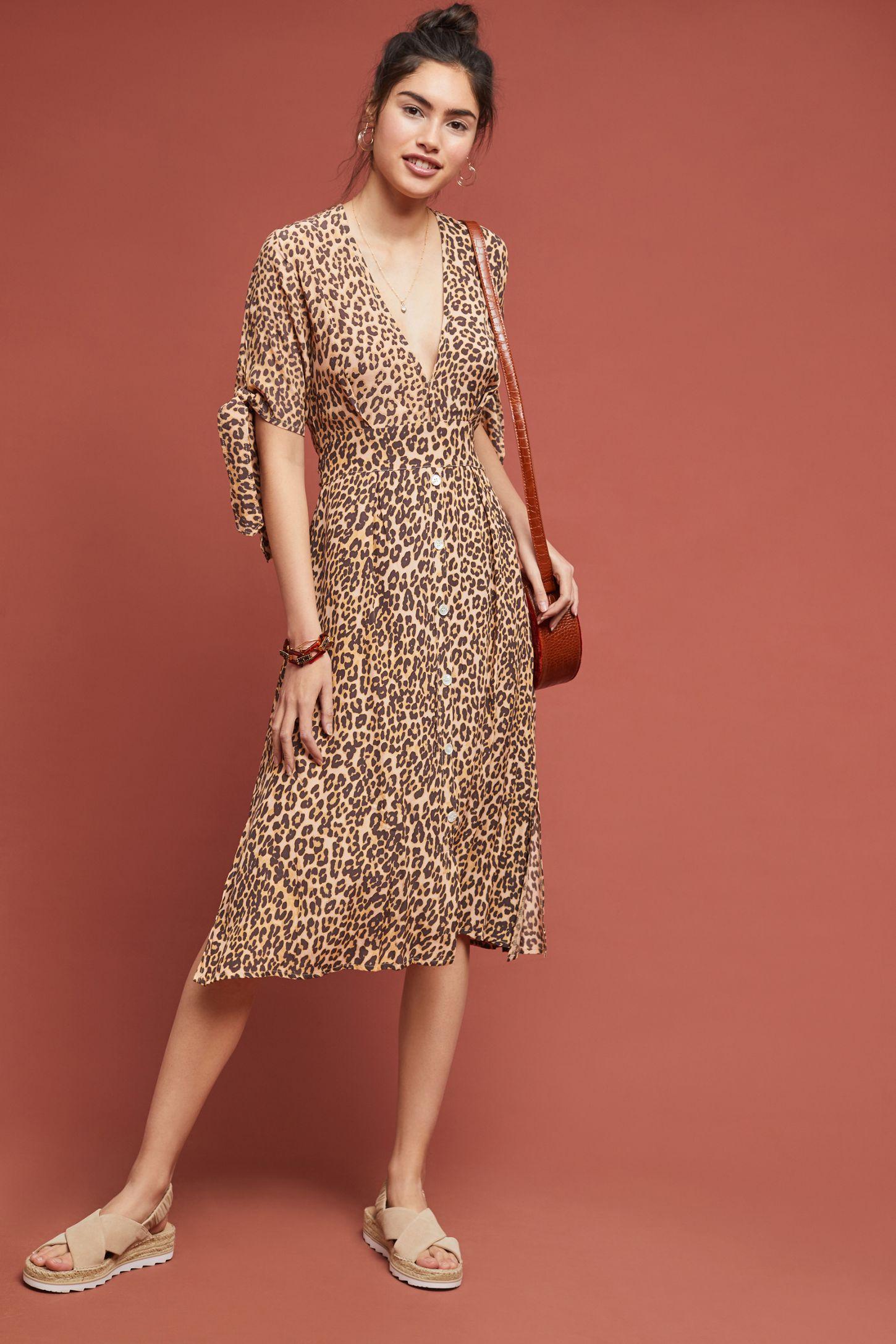bddb4df06876 Faithfull Leopard Midi Dress | Anthropologie