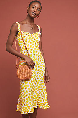 Faithfull Sunflower Midi Dress by Faithfull