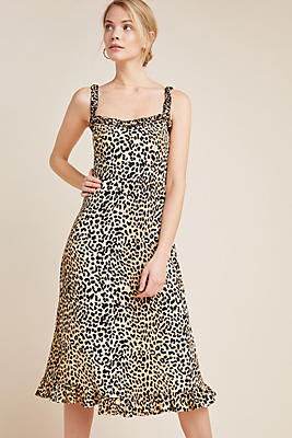 Slide View: 1: Faithfull Wild Cat Midi Dress