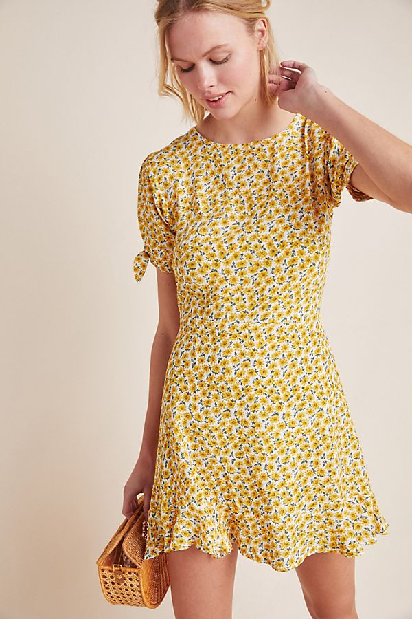 Slide View: 1: Faithfull Marguerite Mini Dress