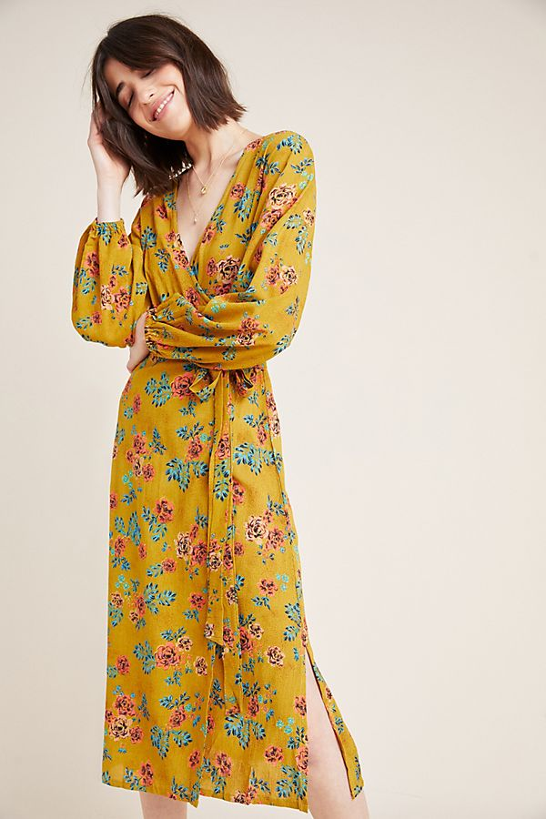 Slide View: 1: Faithfull Le Figuaro Wrap Dress
