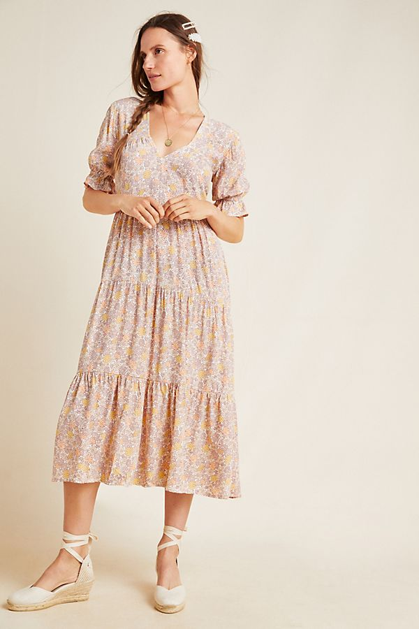 Slide View: 1: Faithfull La Falaise Midi Dress