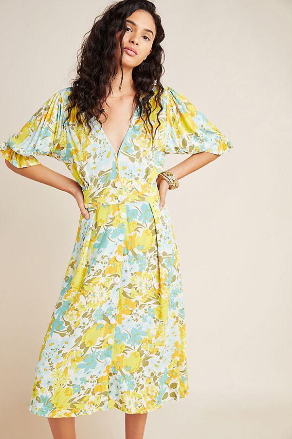 Slide View: 1: Faithfull Annina Midi Dress
