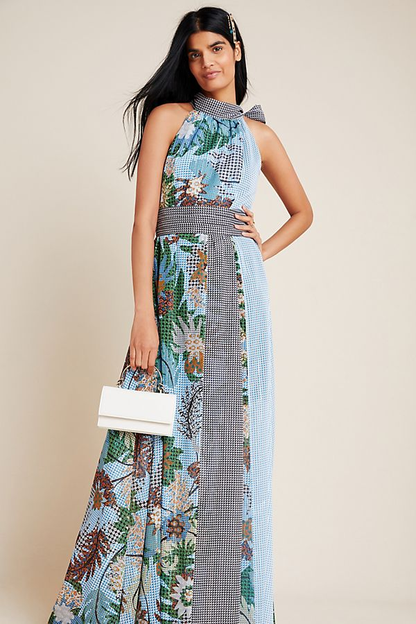 Slide View: 1: Sachin & Babi Kimora Halter Maxi Dress