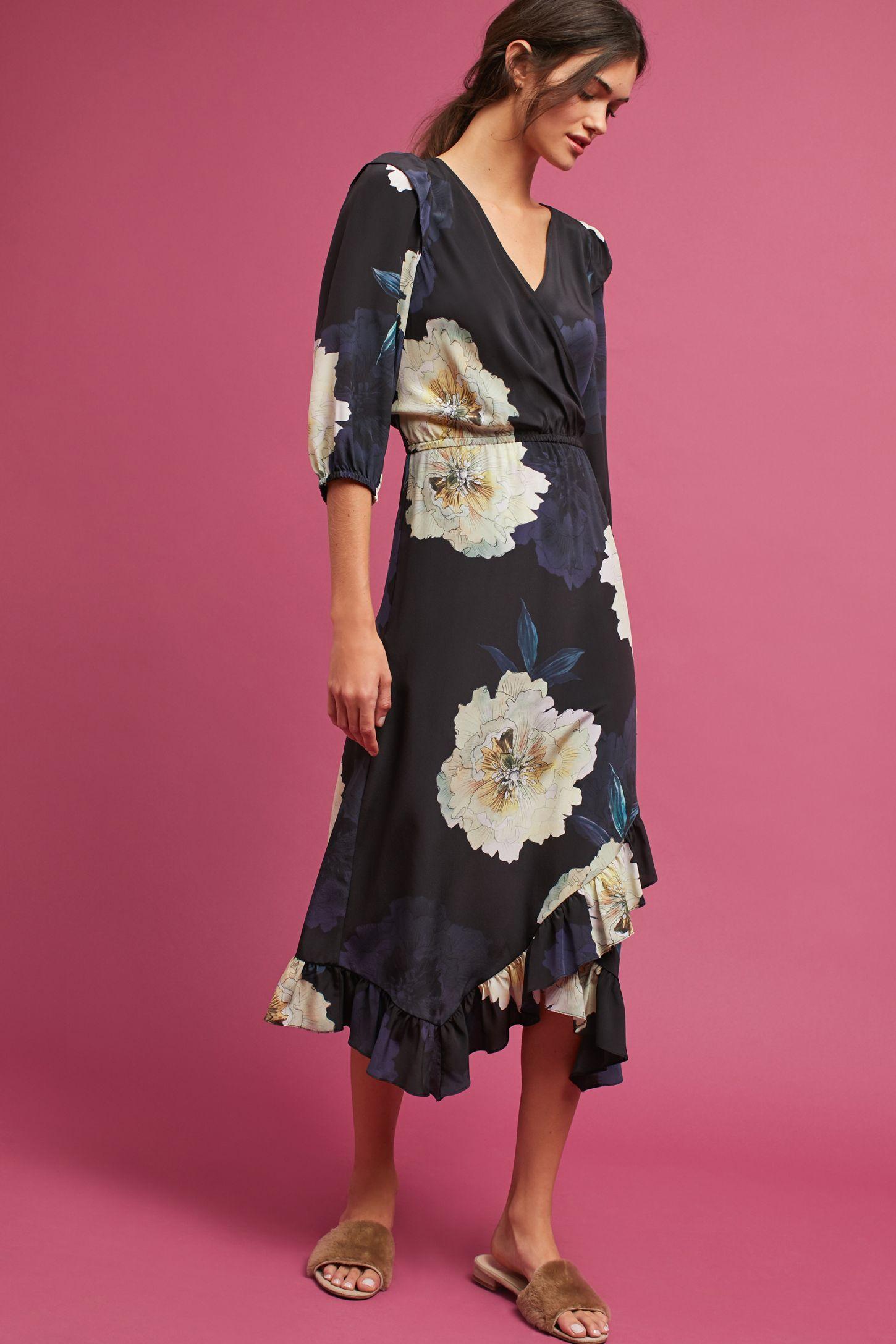 58f5ee931773 Tracy Reese Ruffled Silk Dress   Anthropologie