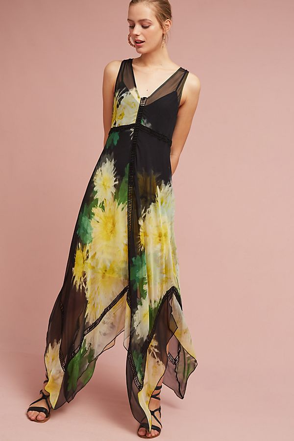 8d008448a83 Tracy Reese Claudia Silk Maxi Dress