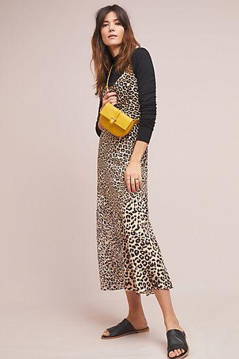 588751eb62 Kachel Silk Leopard-print Slip Dress