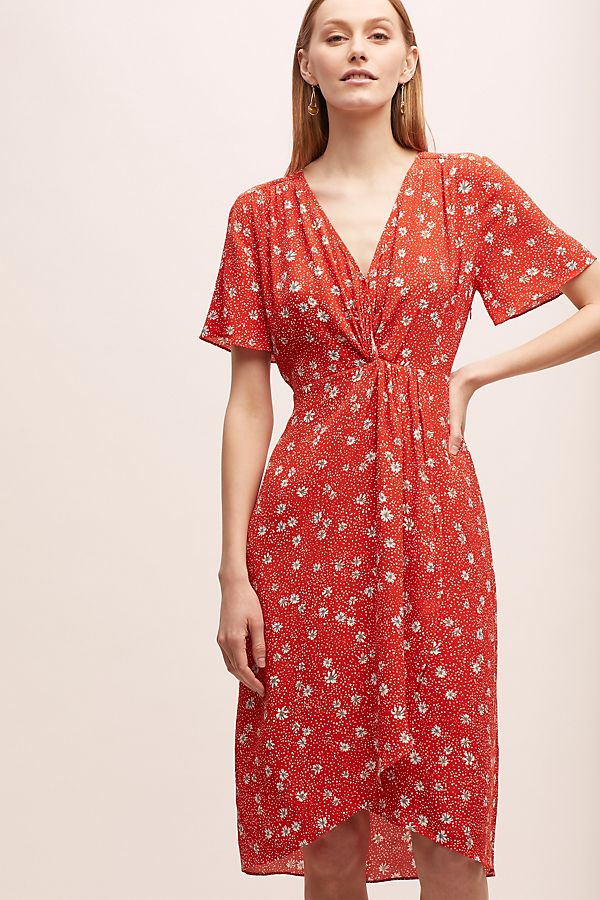 feee5bfc05827 Kachel Floral-Print Wrap Dress
