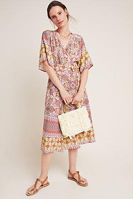 Slide View: 1: Mirabelle Midi Wrap Dress