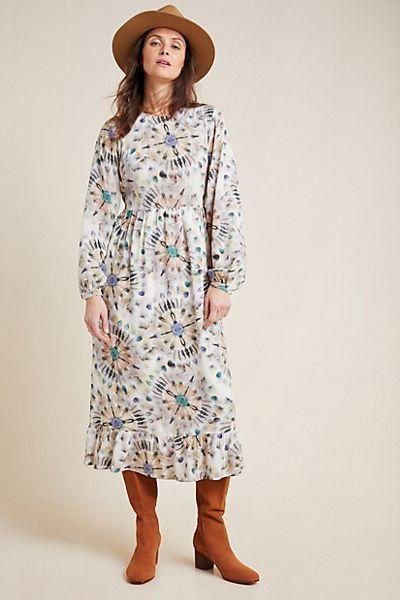 Chiara Watercolor Midi Dress