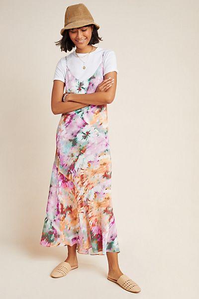 Layla Silk Tie-Dyed Maxi Dress