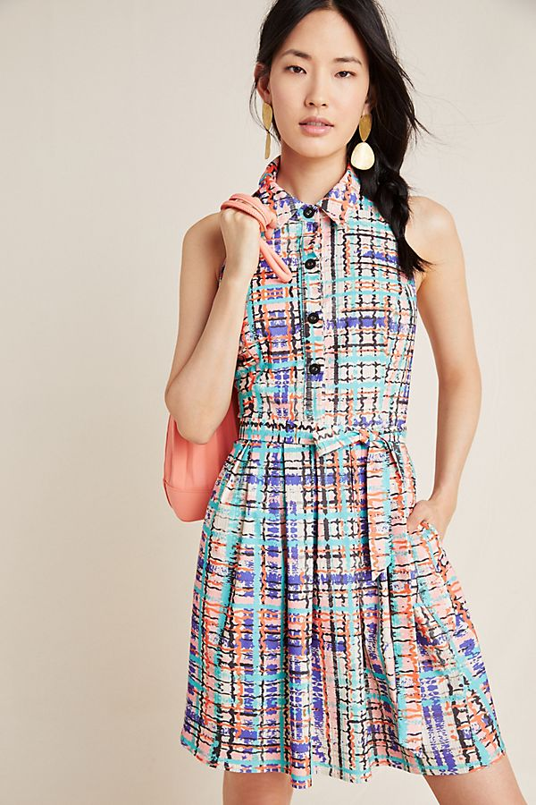 Slide View: 1: Sedgwick Abstract Shirtdress