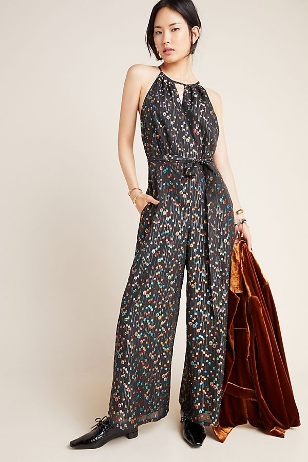 Slide View: 1: Edita Halter Jumpsuit