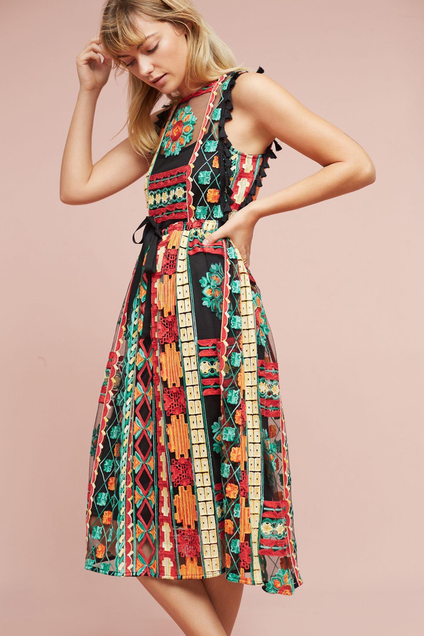 9db9fe327cfe Saskia Embroidered Dress | Anthropologie