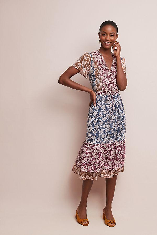 59323557c651 Desert Floral Midi Dress | Anthropologie