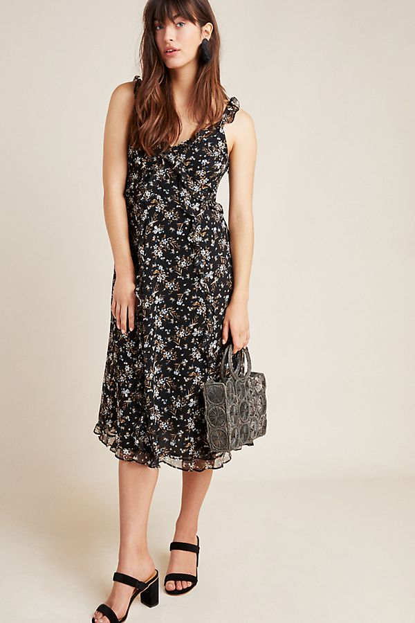 Slide View: 1: Cecile Ruffled Floral Dress