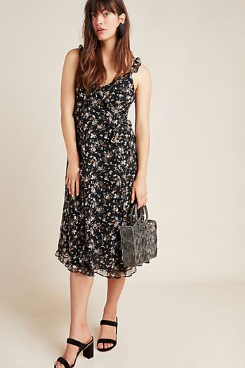 72872360594 Cecile Ruffled Floral Dress
