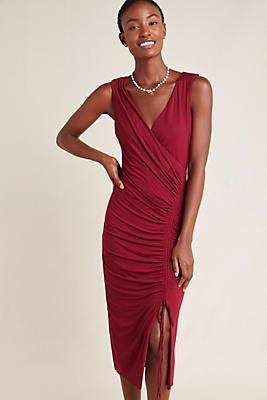 Slide View: 1: Michelle Ruched Midi Dress