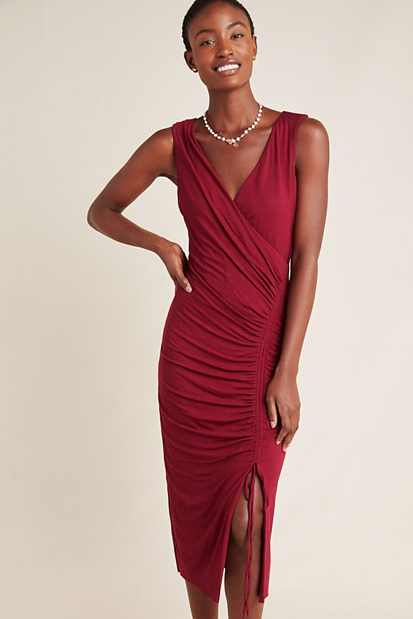 Slide View: 1: Michelle Ruched Midi Dress
