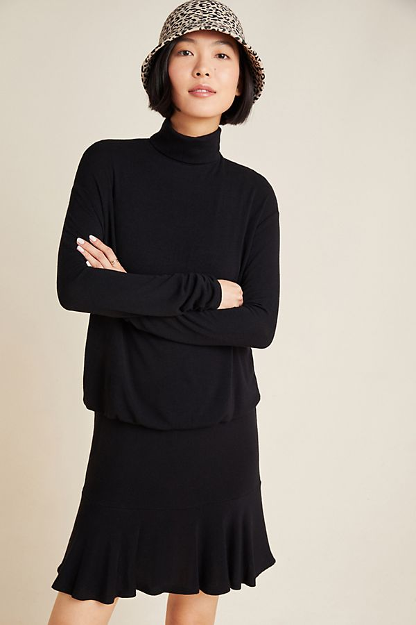 Slide View: 1: Greta Mock-Neck Dress