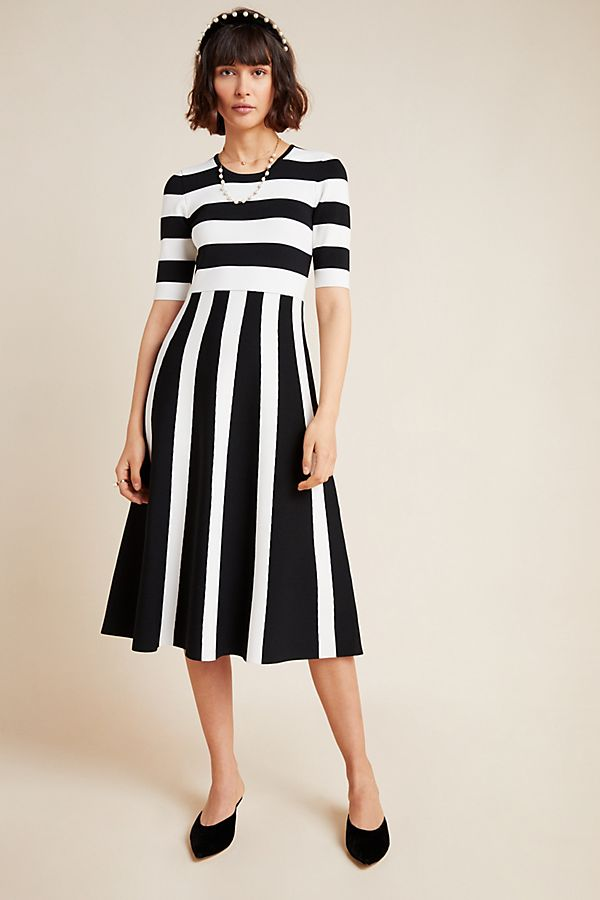 Slide View: 1: Tori Striped Sweater Dress