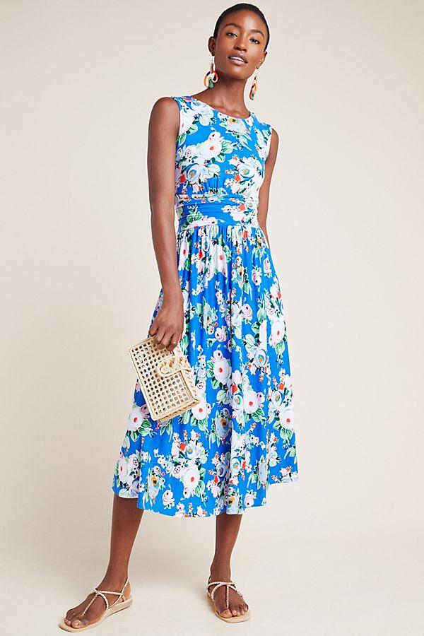 Slide View: 1: Kyla Floral Midi Dress