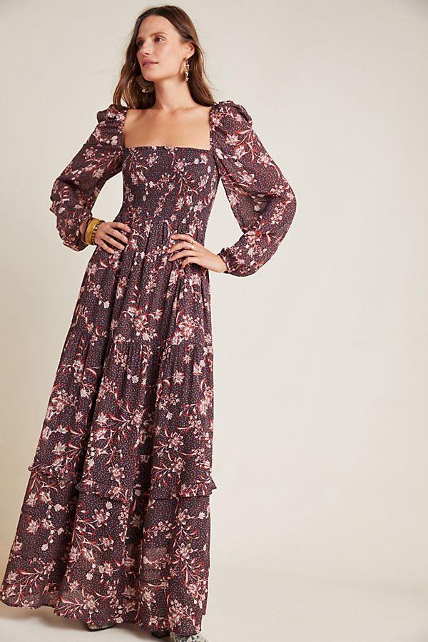 Stratton Smocked Maxi Dress by Dolan Left Coast