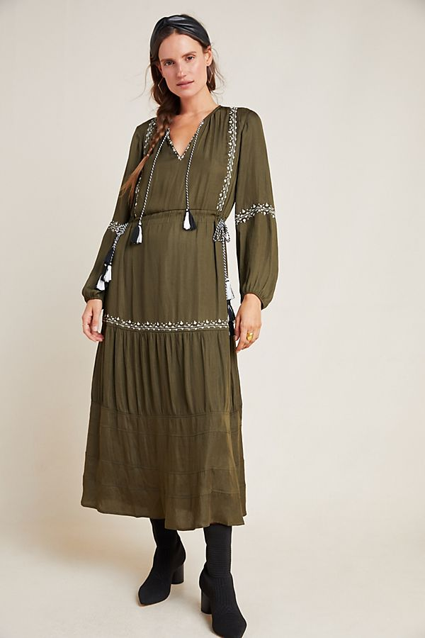 Slide View: 1: Carys Tasseled Maxi Dress