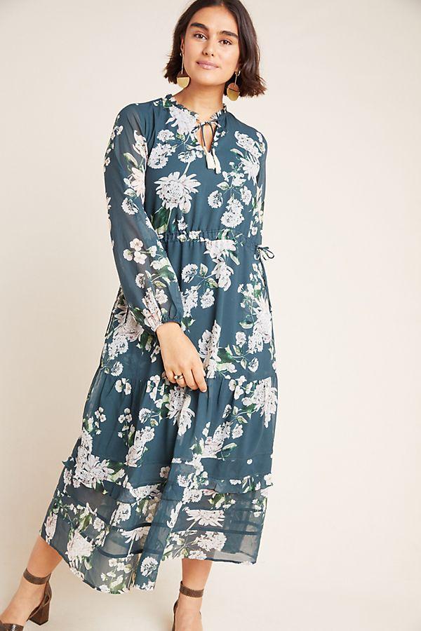 Slide View: 1: Sandrine Floral Maxi Dress