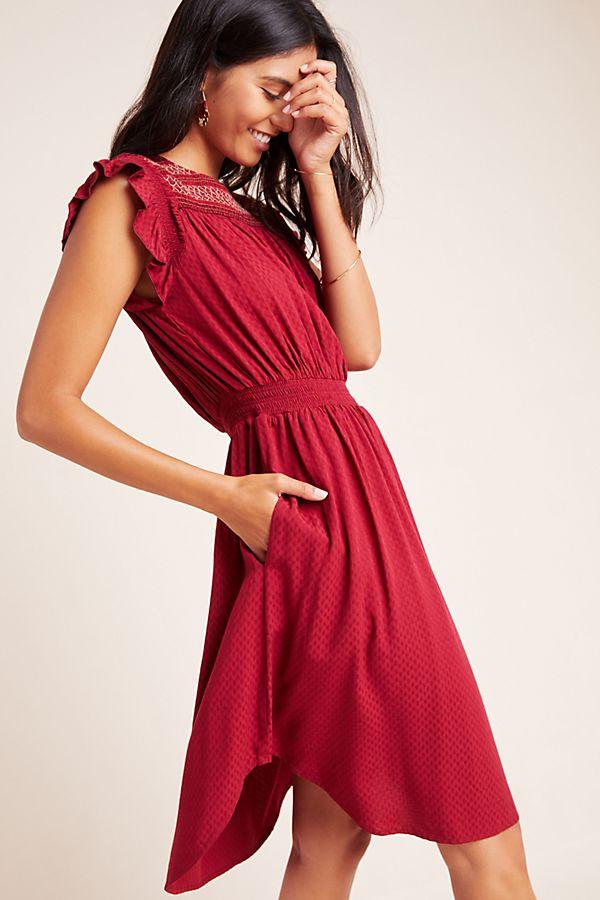 Slide View: 1: Tansy Smocked Midi Dress