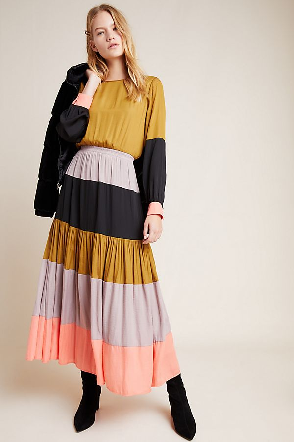 Slide View: 1: DOLAN Collection Colorblocked Maxi Dress