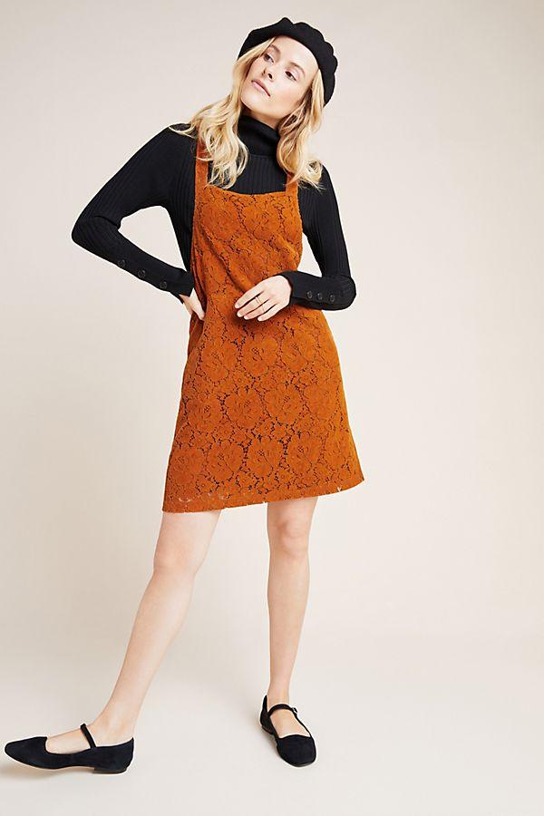 Slide View: 1: Hattie Corduroy Overall Dress