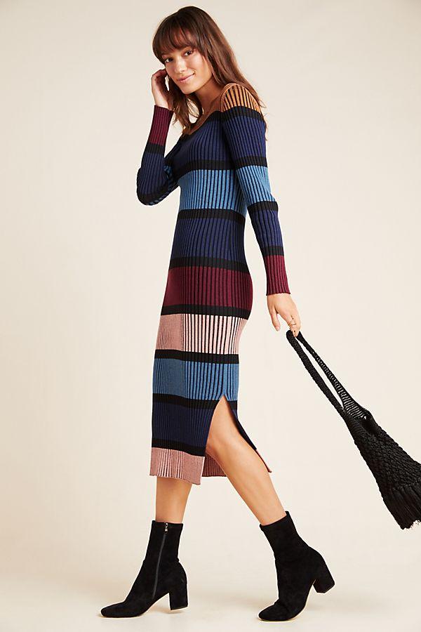Slide View: 1: Lorna Midi Sweater Dress