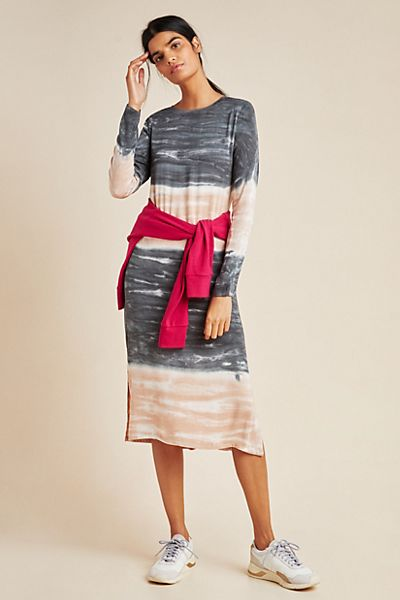 Dolan Left Coast Tie-Dyed Midi Dress