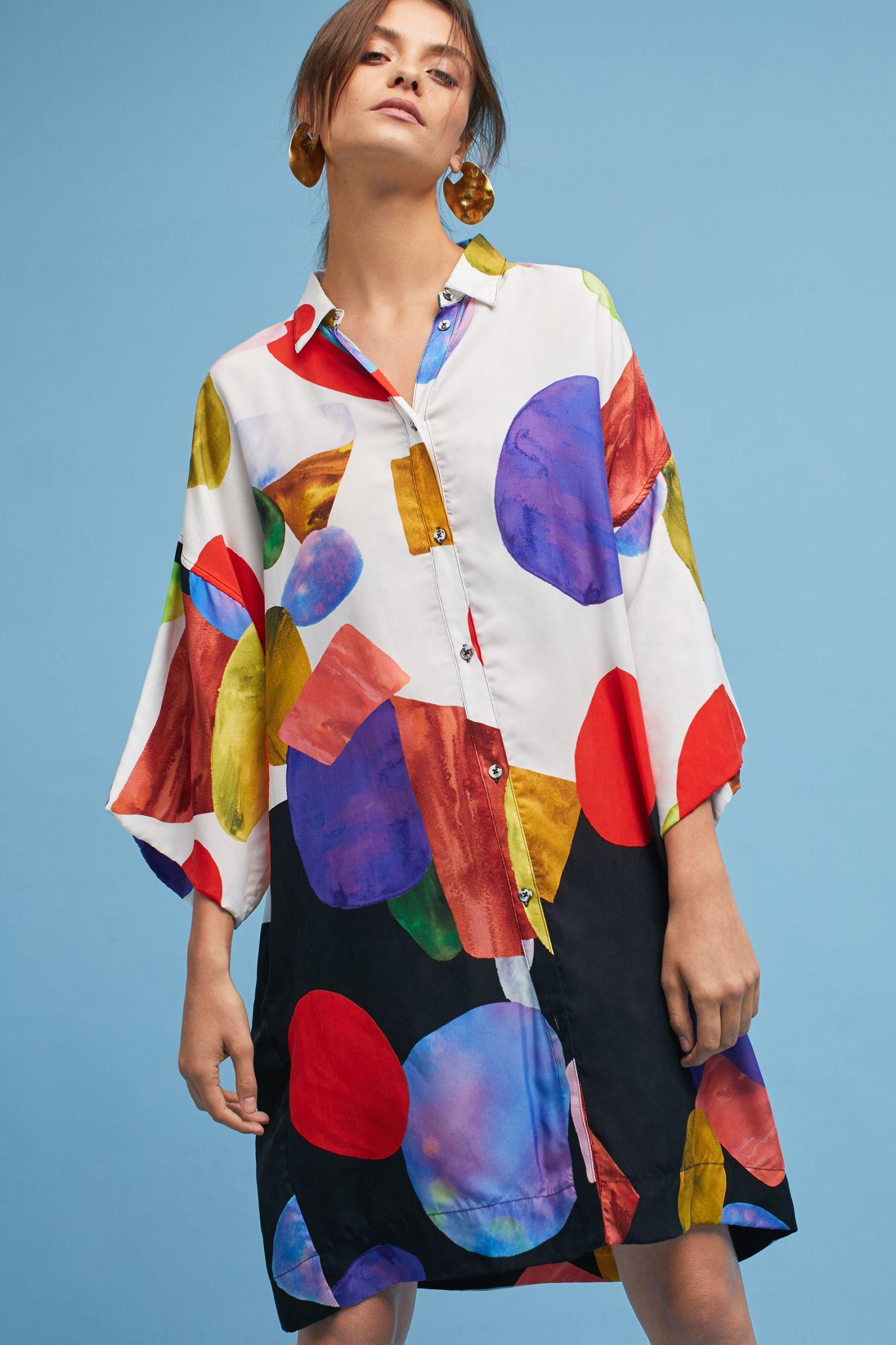 eab36f41239 Mara Hoffman Phillis Gem Tunic Dress | Anthropologie