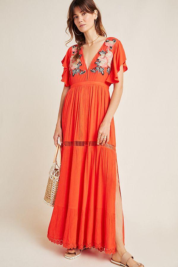 Cleobella Duende Embroidered Maxi Dress by Cleobella
