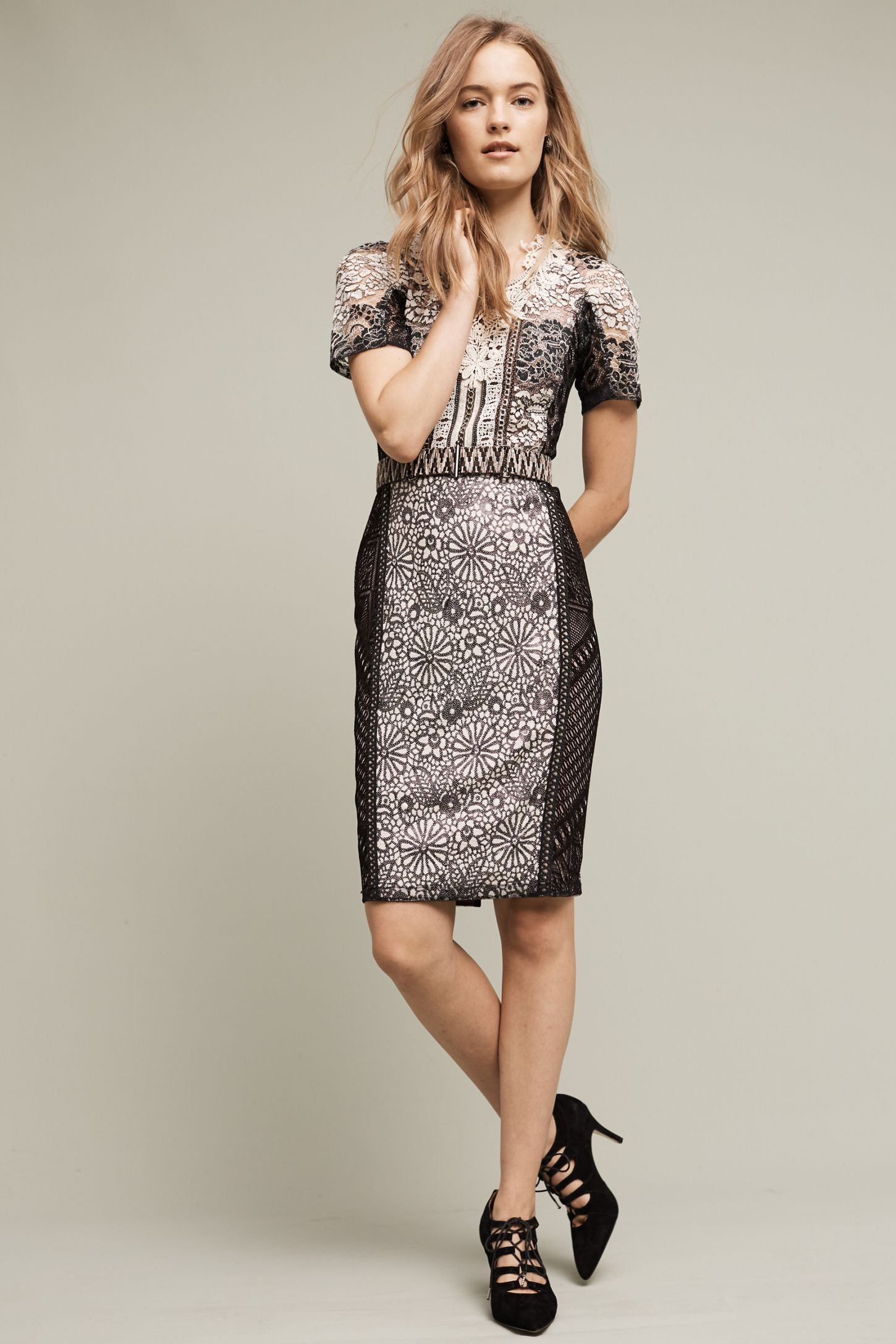 5e4730ea77a3 Lace Melange Pencil Dress | Anthropologie