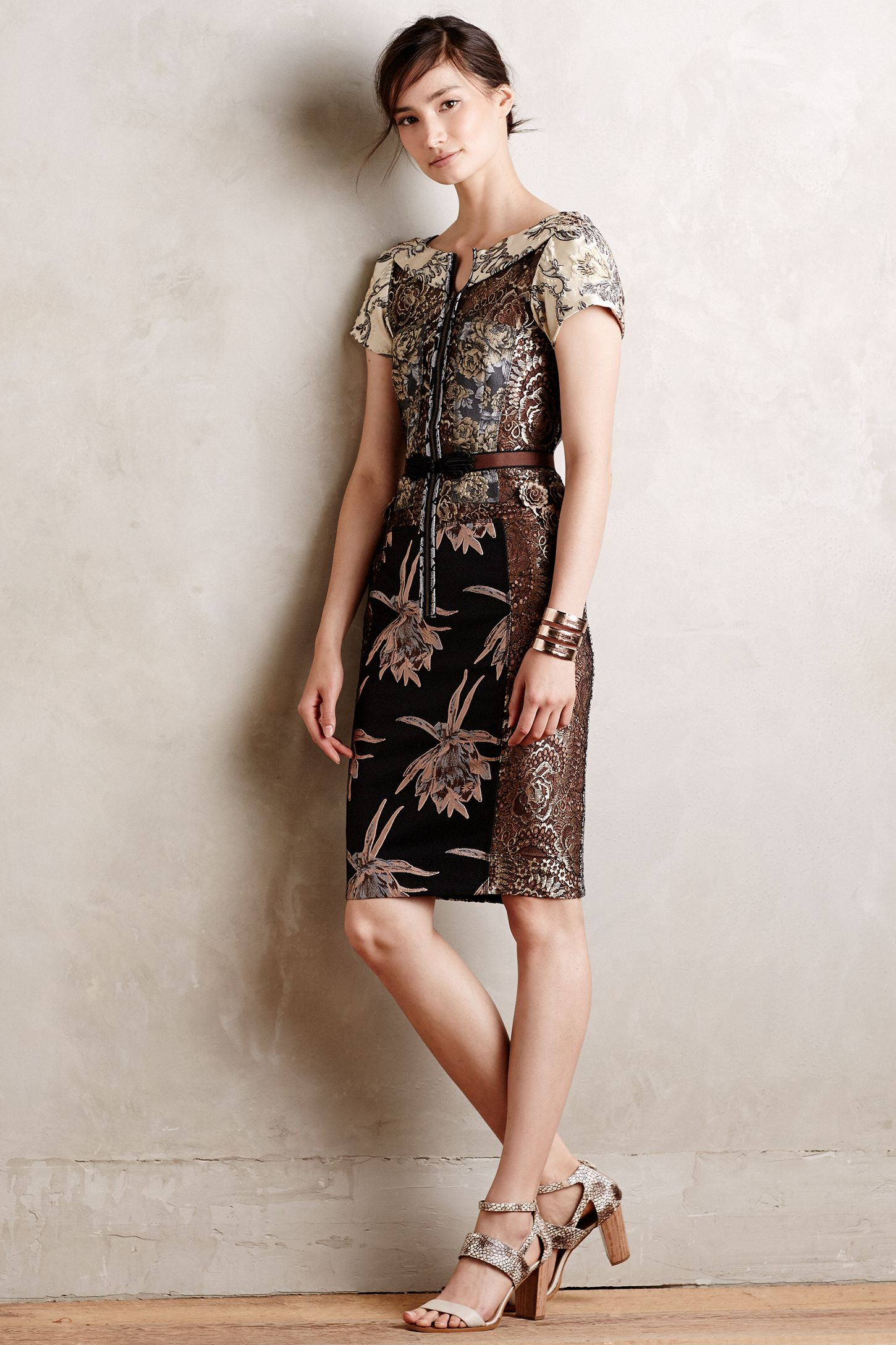 f2d1cc2d4c26 Embroidered Brocade Dress | Anthropologie
